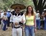 Mexican singers flirting. /  Mexikanische Sänger beim Flirten