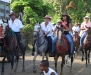 Local celebritys on horse at the Guanacaste fiestas. /  Lokalprominenz reitet bei Fiestas in der Guanacaste.