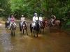 Horse and riders needs a refreshing on the western trail. / Pferde und Reiter brauchen eine Erfrischung beim Westernreiten.