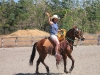 Cowgirls at Paradise Riding. /  Cowgirls bei Paradise Riding.