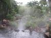 The Tabacon hot springs at Arenal. /  Die heißen Quellen von Tabacon am Arenal.