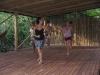 Fun at the horseback ride and after: Alejandra Parody teaches Salsa in Costa Rica. / Spaß während und nach dem Ausritt. Alejandra Parody gibt Salsastunden in Costa Rica.